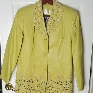 Venee New York vintage leather beaded suit